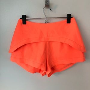 Finders keepers Peplum Orange Shorts Size Small